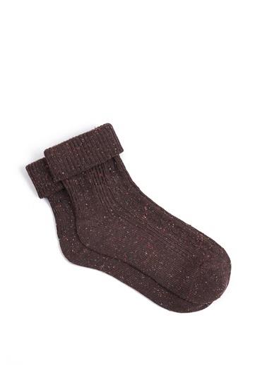 Mavi Uzun Çorap Bej
